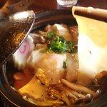 何時も庵 - 「鍋焼きうどん」箱ノ森の名古屋コーチンの生みたてたまご+・・・