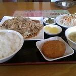 台湾料理 四季紅 - 料理写真:コマ焼きランチ600円(2014/04)