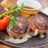 つばめグリル - 料理写真:自家製ベーコンで巻いたハンブルグステーキ【2014年4月】