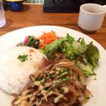 CAFE Vogue Ruby - ライスプレート(豚の生姜焼きと野菜)