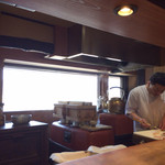 天ぷら 松 - 釜に注目してしまった。こんなの初めて見たわ