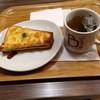 ビー カフェ - 料理写真:クロックムッシュとジャスミンティー