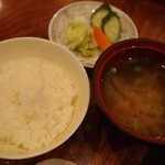 Genji[源氏] - おすすめ源氏弁当(ご飯&味噌汁)