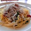 キャナリィロウ - 料理写真:シラスと菜の花とスナップエンドウのアーリオオーリオ