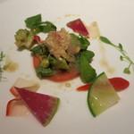 カントニーズ 燕 ケン タカセ - 蟹とアボカドの豆板醤風味サラダ