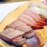 うまい鮨勘 - 『炙り大トロ』『甘海老』『エンガワ』