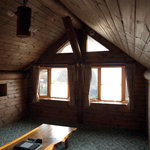 阿蘇 火の鳥温泉 欧風料理宿 ログ山荘 火の鳥 - 宿泊したログハウスの二階居間