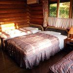 阿蘇 火の鳥温泉 欧風料理宿 ログ山荘 火の鳥 - 宿泊したログハウスの寝室