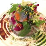 ラシェリール - バルサミコの香るライスサラダ 生ウニと真鯛のマリネ添え