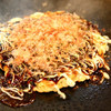 お好み焼き道場 - 料理写真:あっつあつのお好み焼きをオリジナルソースで!