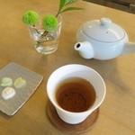 26348688 - ほうじ茶と鍵膳さんとのコラボの干菓子です☆