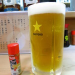 つく志 - 生ビール(中)950円 800mlサイズ!