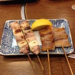 宵・酔・亭 煖 - ねぎ鶏¥150×2・豚バラ¥150×2