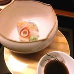 日本料理 桜楽 - <4月夜肉魚>お造り、ひらめ、貝柱、はりいか、さわら、さより