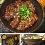 マルハのカルビ丼 北18条本店 - 牛カルビ丼。マルハのカルビ丼(札幌市)食彩賓館撮影