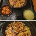 マルハのカルビ丼 北18条本店 - 豚カルビ丼大盛。マルハのカルビ丼(札幌市)食彩賓館撮影