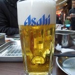 串揚げ じゅらく - まずはビールで乾杯! H26.4
