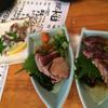 地魚屋台 とっつぁん - 料理写真:手長蛸、鰹たたき、鮪ほほ肉