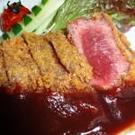 馬勝蔵 - 料理写真:外はカリッと中は驚くほど柔らかい。極上のヒレ肉使用の為あっさりしてます。