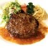 グリーンステム - 料理写真:当店の代名詞!! 歴代人気No.1♪ 「ステムのハンバーグ」(メイン、スープ、ライス、ドリンク付きランチセット 920円)