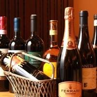 ワインは常時50種類以上ご用意!