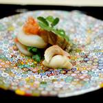 Kimoto - 料理写真:<2014年4月>酢のもの(順番は後で出されましたが、なんせお皿が気に入りましたので)