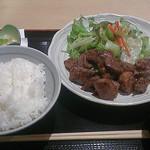 臍 - 特選佐賀牛サイコロステーキ定食(1,030円)