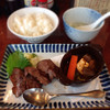牛たん焼 仙台辺見 - 料理写真:140425 上牛たん炭火焼きと厚切り牛たんシチュー定食
