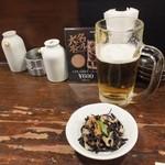 海鮮食堂 すいか - (2014/4/19)生ビールとお通し
