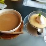 26675758 - マサラチャイ&チーズケーキ