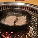 炭火焼肉 あもん - 鉄板薄焼 頬肉