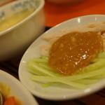 中華料理 香州 - バンバンジ、玉子スープ