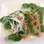 MR.CHICKEN鶏飯店 - 2014年4月28日 シンガポールチキンライス蒸し950円 サラダ