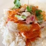 MR.CHICKEN鶏飯店 - 2014年4月28日 シンガポールチキンライス蒸し950円
