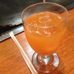アンガス - ドリンクは、コーヒー、紅茶、アイスコーヒー、オレンジジュース、グレープフルーツジュースから選べます。写真はグレープフルーツジュース(*^^*)