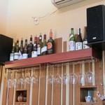 そば打ち幸甚 - 日本酒だけでなく、ボトルワインもあります・・