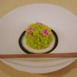 26741407 - 嘯月セット≪嘯月生菓子+お飲物で\1,300≫(きんとん、2014年4月)