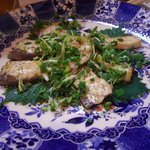 小料理 つくし - あまったブリ刺しをステーキにしてくれた。うまい!
