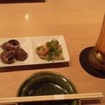 広瀬 - お通しと生ビール