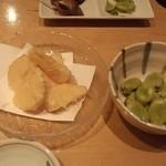 広瀬 - 天豆と筍の天ぷら