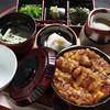 活魚料理 うおじま - 料理写真:☆常連様にも大人気のひつまぶし(肝つき)です。肝つきで栄養満点です。いけすから取り出し、目の前でさばきます。