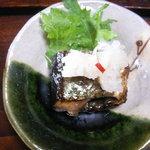 中里の庵 沾 - 焼き秋刀魚にかぶらの酢漬け