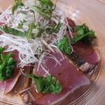 えびマリアージュきっちん - 前菜:春のカツオのカルパッチョ