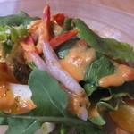 えびマリアージュきっちん - 前菜:甘海老のカルパッチョうにとフレッシュトマトソース