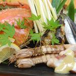 創味魚菜 岩手川 - 料理写真:瀬戸内の名物もたくさん!写真の食材はワタリガニ、黄ニラ、しゃこ、ままかり、たこ、鱧です。ご希望の調理方法でお出しします。