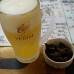 タカマル鮮魚店 - 480えん『樽生ビール(サッポロエビス)』2014.4