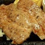 ステーキガスト - 熟成ロース薄切りステーキ(160g)、にんにく醤油ソース(アップ)