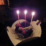 本草円山 - Petit Chocolat のバースデーケーキ
