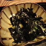 本草円山 - 水菜とえのきのおひたし