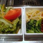 蔵 庵 - サラダとキムチセット